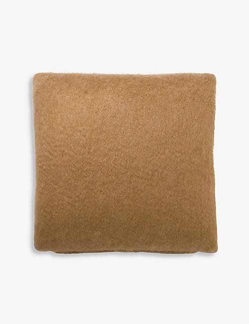 VISO: V03 mohair and wool-blend cushion cover
