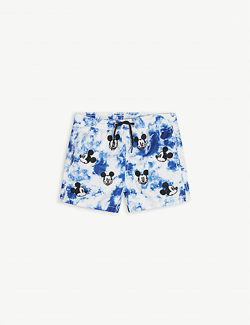 MC2 SAINT BARTH: Mickey Mouse recycled-polyester swim shorts 4-14 years
