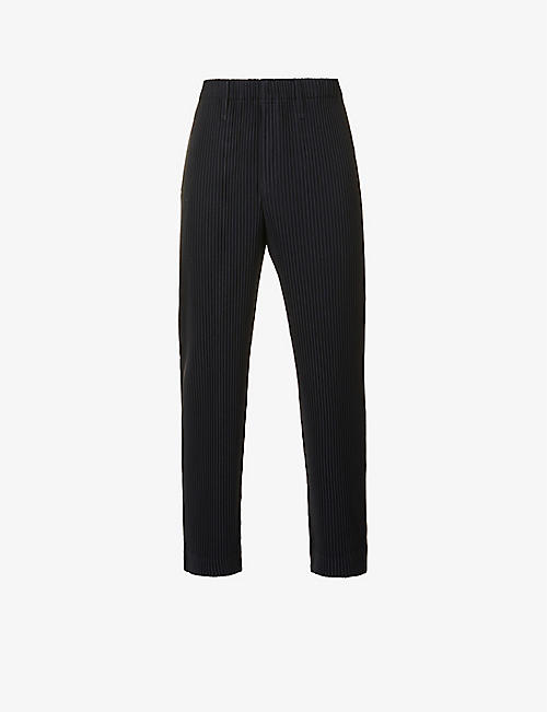 HOMME PLISSE ISSEY MIYAKE: Pleated slim-fit tapered woven trousers