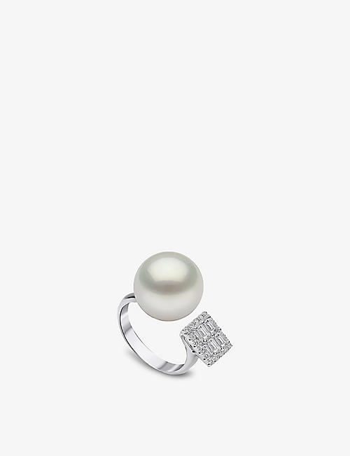 YOKO LONDON: Starlight South Sea pearl, diamond and 18ct white gold ring