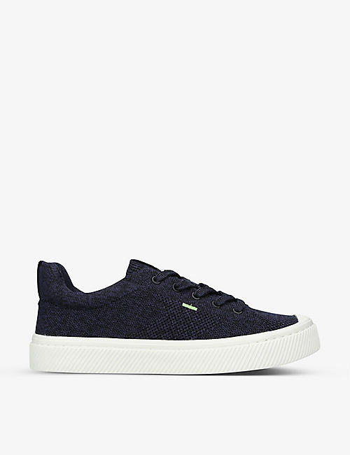 CARIUMA: Ladies IBI bamboo-knit and recycled-polyester low-top trainers