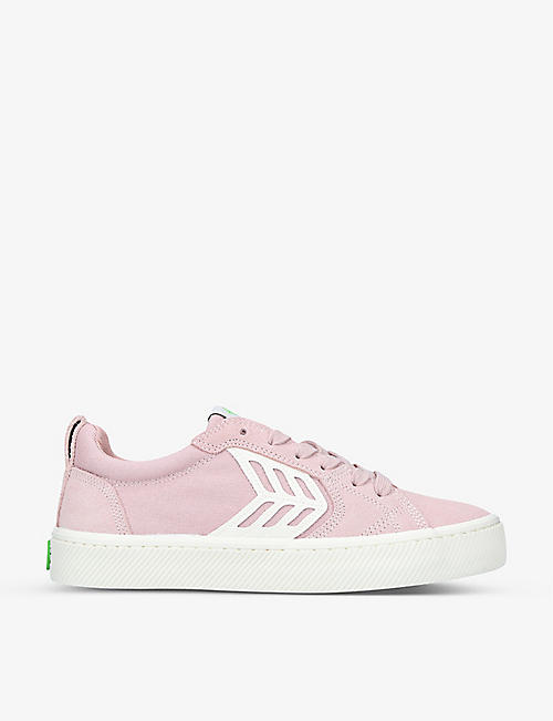 CARIUMA: Ladies CATIBA Pro suede and organic-cotton skate shoes