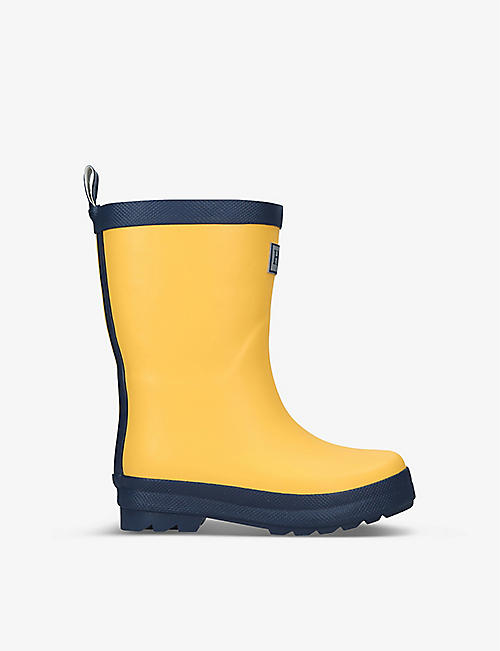 HATLEY: Logo-embossed rubber wellington boots 3-8 years