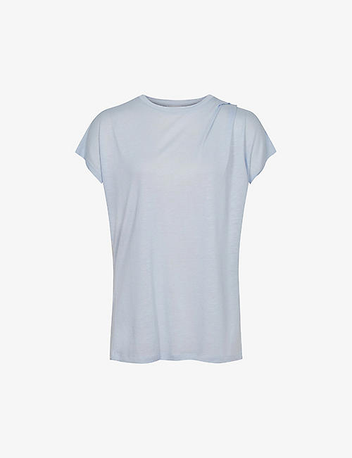 REISS: Leandra round-neck jersey top