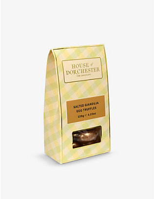 HOUSE OF DORCHESTER: Salted Gianduja Egg chocolate truffles 125g
