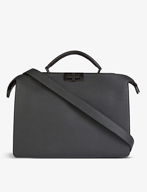 FENDI: Peekaboo ISeeU medium leather top-handle briefcase