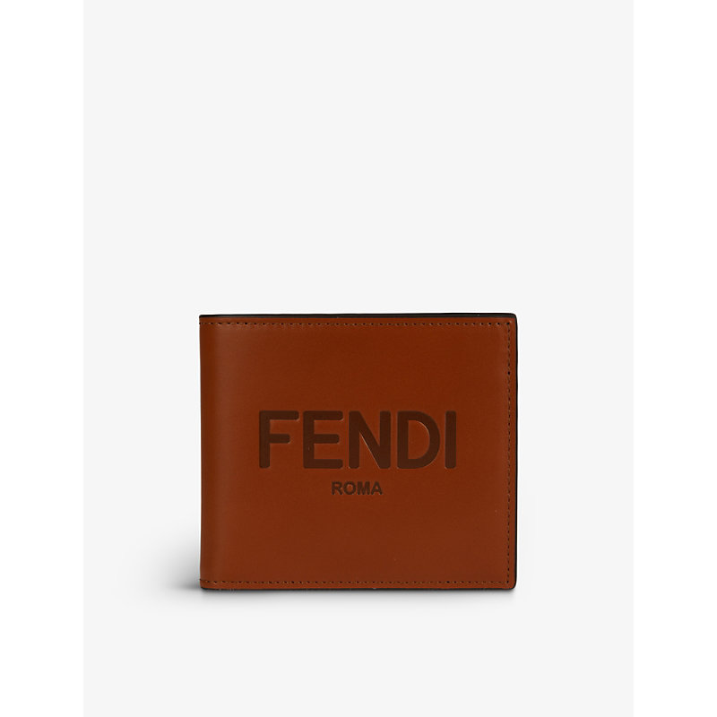 FENDI ROMA BRAND-PLAQUE LEATHER BILLFOLD WALLET