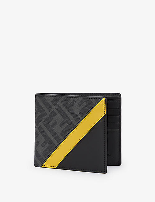 FENDI: Logo-embossed coated-canvas billfold