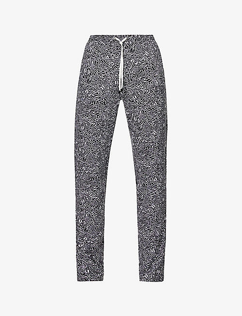ZIMMERLI: Graphic-print relaxed-fit stretch-jersey pyjama bottoms