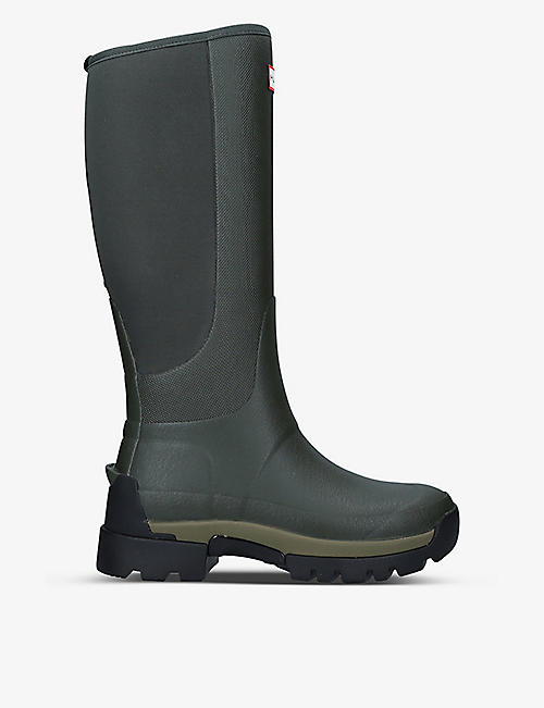 HUNTER: Balmoral Field Hybrid rubber and neoprene boots