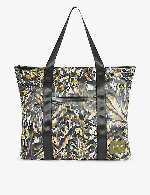 TED BAKER: Aleahh graphic-print nylon tote bag