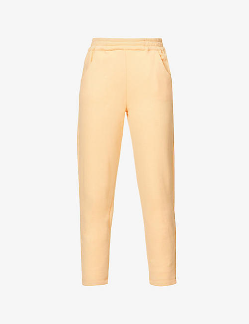 VIKTORIA & WOODS: Power relaxed-fit high-rise cotton-jersey jogging bottoms