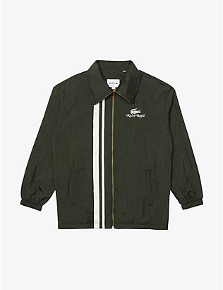 LACOSTE: Lacoste x Ricky Regal striped-trim woven coach jacket
