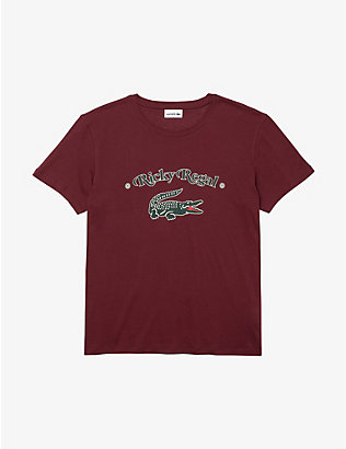 LACOSTE: Lacoste x Ricky Regal logo-print cotton-jersey T-shirt