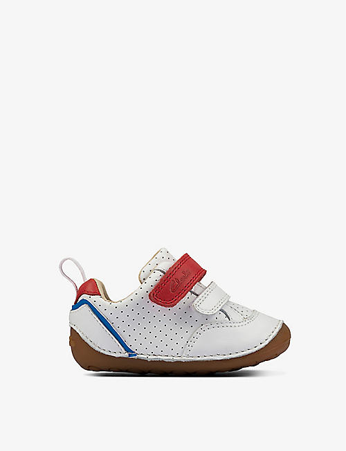 CLARKS: Tiny Sky pre-walking leather shoes 0-23 months