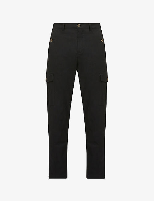 TED BAKER: Mikael slim regular-fit cotton-blend trousers