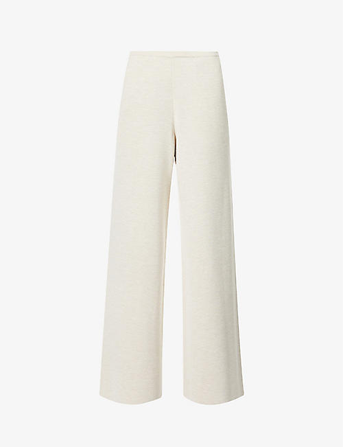 THE ROW: Chuk wide-leg high-rise wool and silk-blend trousers