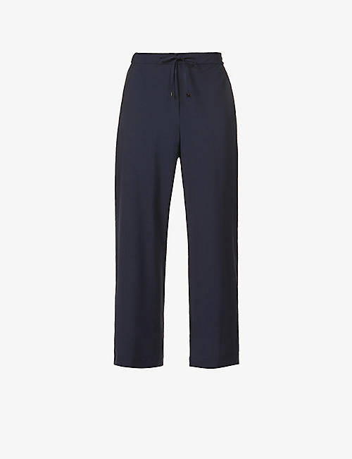 S MAX MARA: Canga straight-leg high-rise wool-blend trousers