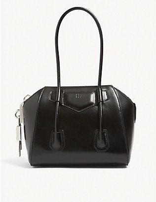 GIVENCHY: Antigona Lock leather shoulder bag
