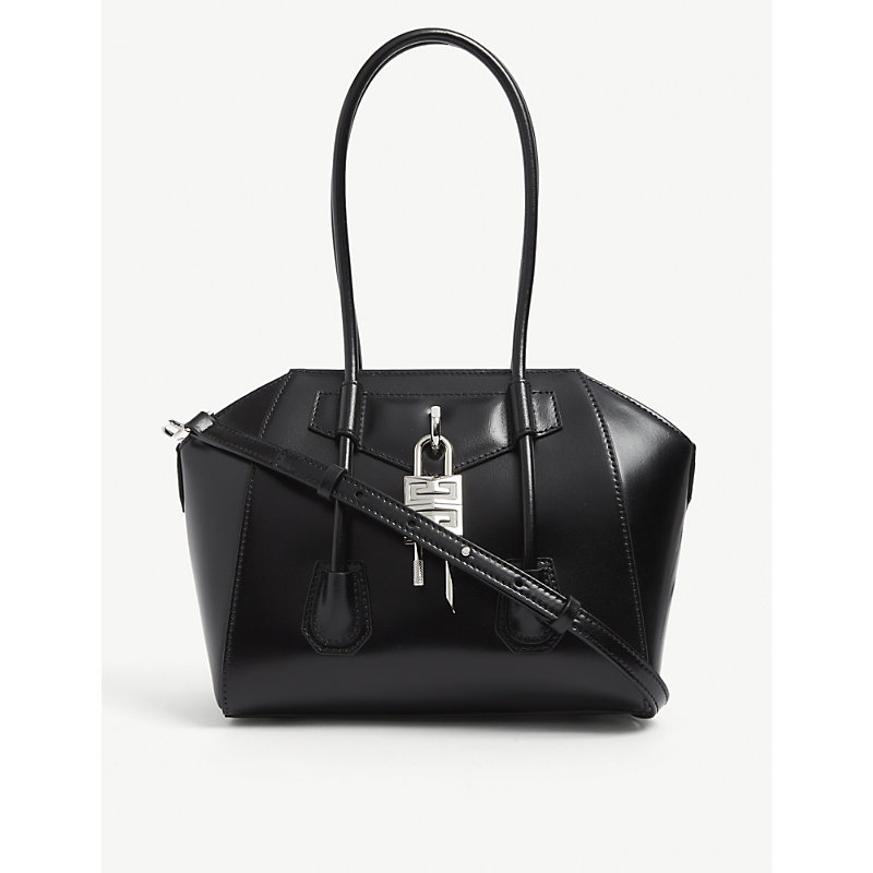 Givenchy ANTIGONA LOCK MINI LEATHER SHOULDER BAG