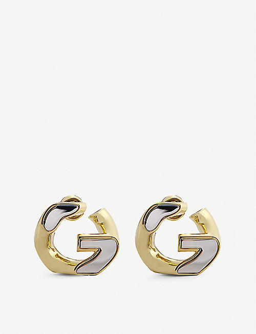 GIVENCHY: G-Chain medium gold-toned brass hoop earrings