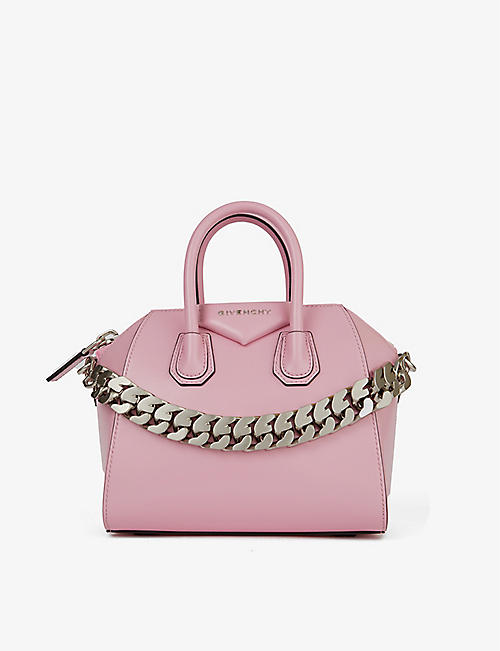 GIVENCHY: Antigona Chain mini leather tote bag