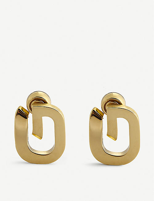 GIVENCHY: G-Link gold-toned earrings