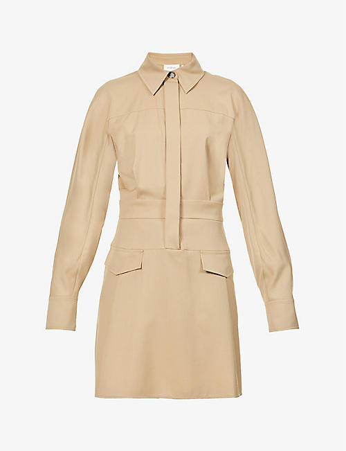 SPORTMAX: Luis woven mini dress