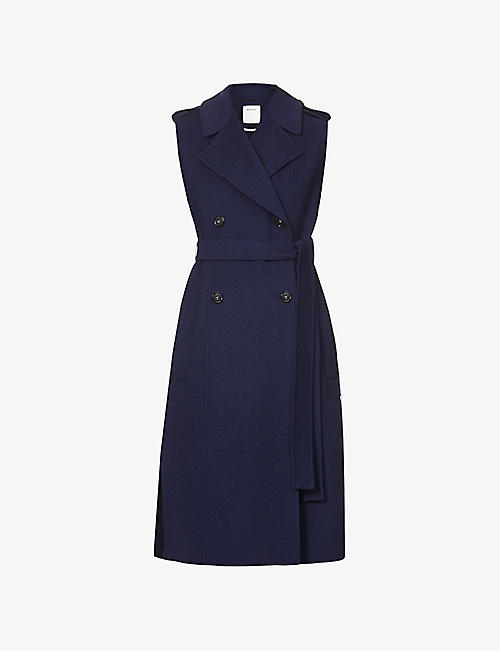SPORTMAX: Zoe double-breasted sleeveless wool coat