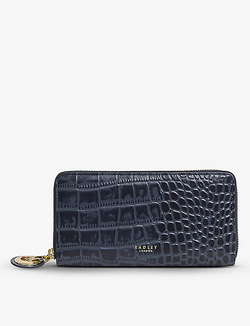 RADLEY + CO: Leather croc-effect matinee wallet