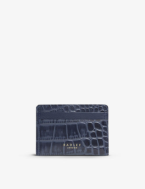 RADLEY + CO: Milford Mews croc-embossed leather cardholder