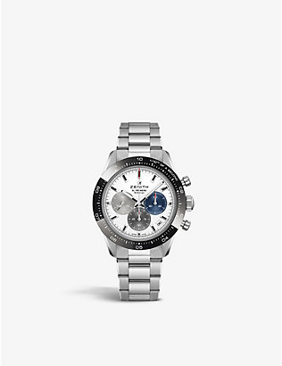 ZENITH: 03.3100.3600/69.M3100 Chronomaster Sport stainless-steel and ceramic automatic watch