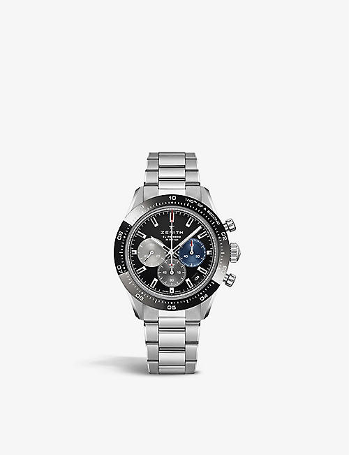 ZENITH: 03.3100.3600/21.M3100 Chronomaster Sport stainless-steel and ceramic automatic watch