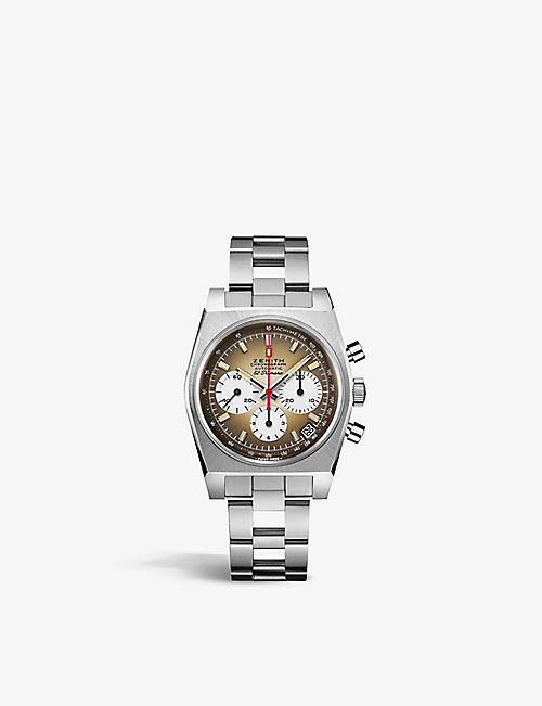 ZENITH: 03.A384.400/385.M385 Chronomaster Revival A385 El Primero stainless-steel automatic watch