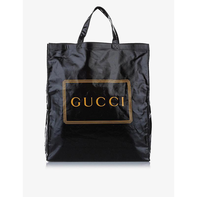 Pre-loved Gucci medium cotton-canvas tote bag