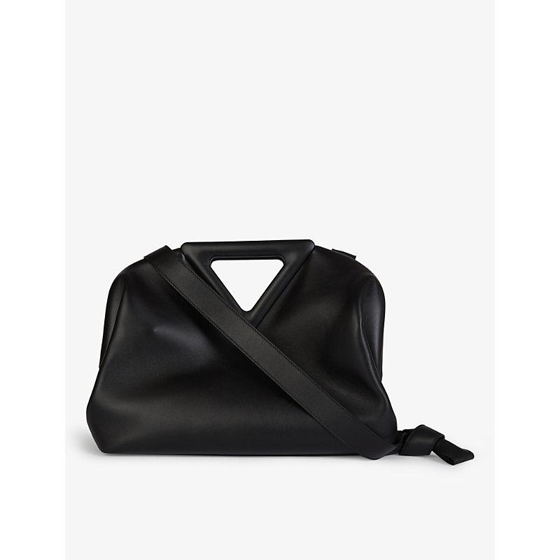 Bottega Veneta Leathers POINT MEDIUM LEATHER SHOULDER BAG