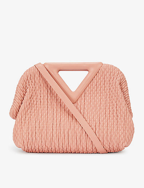BOTTEGA VENETA: Point small textured leather top handle bag