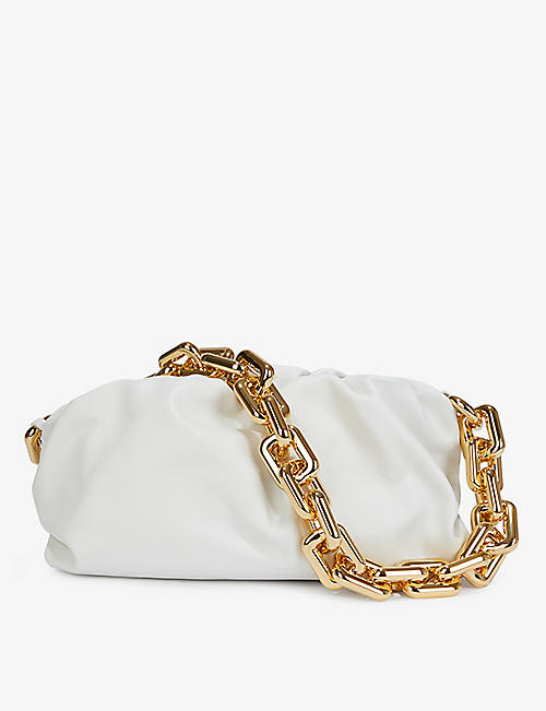 BOTTEGA VENETA: The Chain Pouch medium leather clutch bag