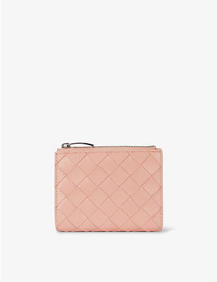 BOTTEGA VENETA: Intrecciato small leather bi-fold wallet