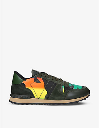 VALENTINO GARAVANI: Rockrunner suede and leather trainers