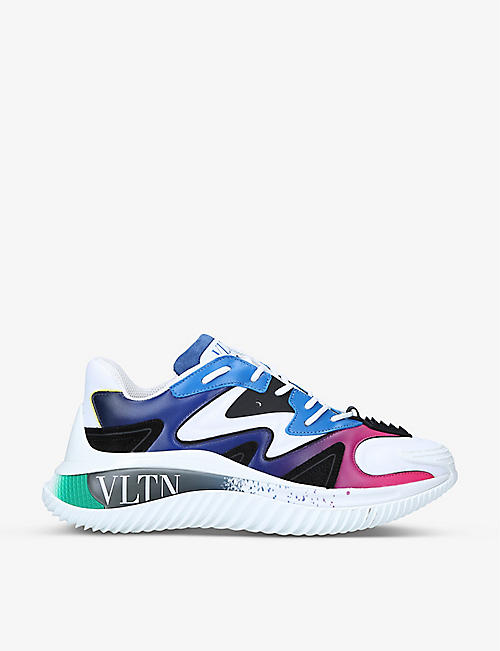 VALENTINO GARAVANI: Wade Runner leather and textile trainers