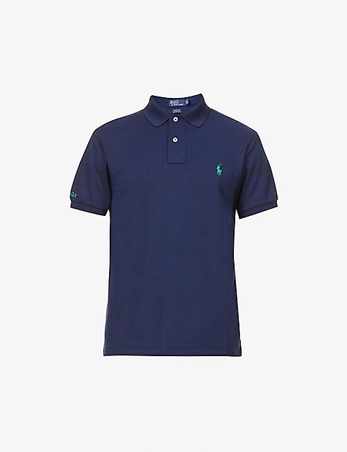 POLO RALPH LAUREN: Logo-embroidered slim-fit recycled-polyester polo shirt