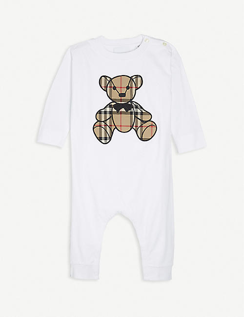 BURBERRY: Thomas Bear cotton baby grow 1-18 months