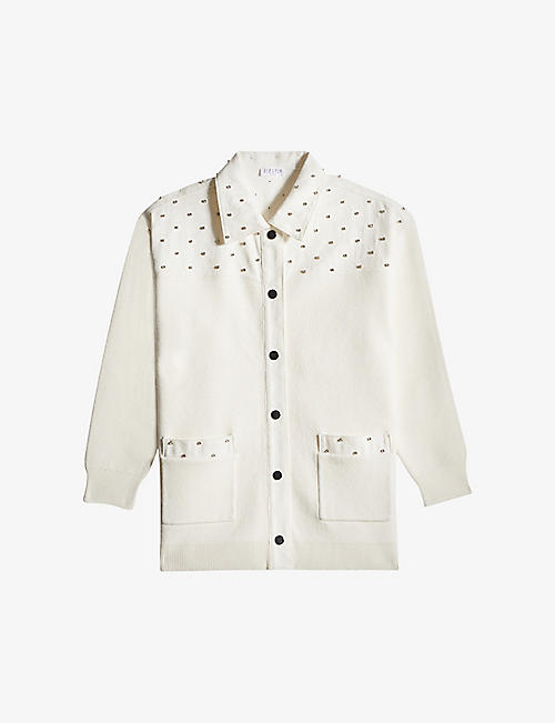 CLAUDIE PIERLOT: Muscari embellished woven jacket