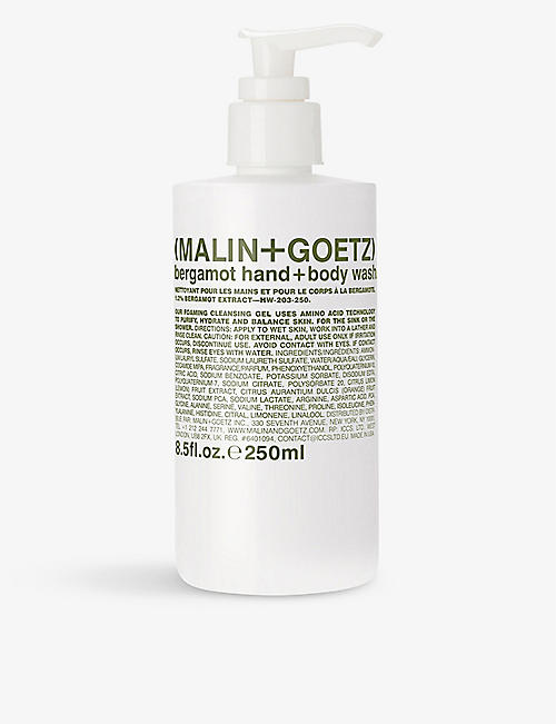 MALIN + GOETZ: Bergamot hand and body wash 250ml