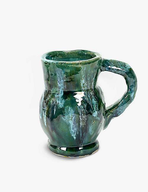 SERAX: Water decorative stoneware jug 19cm x 13cm