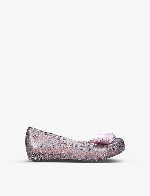 MINI MELISSA: Ultragirl Butterfly embellished woven shoes 7-8 years