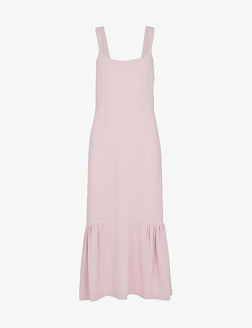 WHISTLES: Sarah scoop-neck woven maxi dress