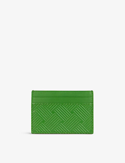 BOTTEGA VENETA: Debossed leather cardholder