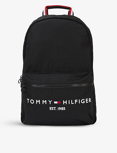 TOMMY HILFIGER: TH Established logo-embroidered recycled polyester-blend backpack